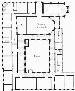 Plan ateliers rez-de-chaussée sans denominations