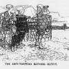 """""""Le maillot de bain anti-torpilles"""", dessin de Ernest Howard Shepard, paru dans Punch, or the London charivari, 4/08/1915."""